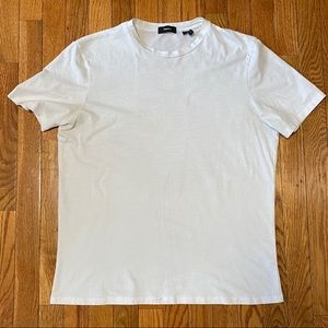 Theory Men's White Circle Tee, Large